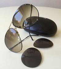 vintage PORSCHE DESIGN 5621 by Carrera black/gold aviator sunglasses large