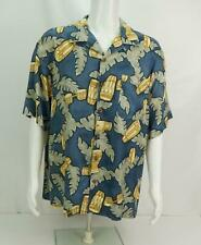 Tommy Bahama Silk Floral Hawaiian Shirt Camp Men's Large