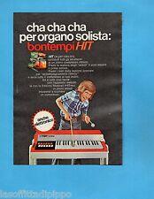 TOP972-PUBBLICITA'/ADVERTISING-1972- BONTEMPI - HIT ORGAN ELECTRIC (versione A)