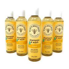 New listing Lot of 5 Burt's Bees Baby Shampoo & Wash 8oz Original Tear Free