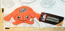 "OKLAHOMA CITY THUNDER OKC CREATURE NBA PLUSH TOY 4"" FIGURE BALL W/ CLIP 2013 NEW"