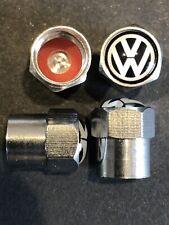 4 novelty Schrader Tyre Cap Wheel Valve Air Dust Screw Car Gift VW Volkswagen