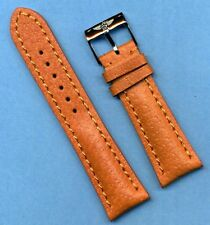BREITLING BUCKLE AND 24mm GENUINE WILD BOAR STRAP BAND PADDED LEATHER LINED