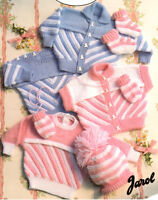 "Baby Sweater Jacket Gilet - Hat Socks Mitts ~ DK Knitting Pattern 18"" - 26"""