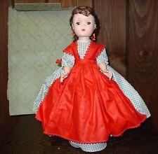 Vintage Madame Alexander doll Jo  original box and metal stand 1948-54