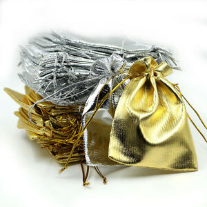 25/50 Stain Organza Jewelry Gift Wedding Favors Sheer Ornament Bags Pouch 7*9 CM