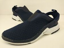 Nike Air Visi Mazy Size 10 Women's Shoes  Woven Sneakers Navy Blue Slip On