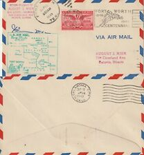US 1949 AM 81 FIRST FLIGHT FLOWN COVER FORT WORTH TEXAS TO OKLAHOMA CITY