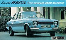 Ford Escort RS 2000 Mk1 1973-74 UK Market Launch Leaflet Sales Brochure