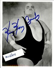King Kong Bundy Autographed Signed 8x10 BW Photo WWF Wrestler DECEASED