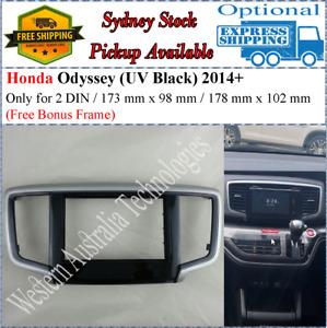 Fascia facia Honda Odyssey 2013+ UV Black/Silver Double 2 Two DIN*