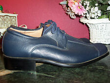 SEVASTA ITALIANO  navy blue leather and fabric OXFORD 10M never worn