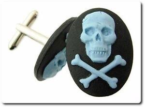 Cufflinks Cameo Resin Skull