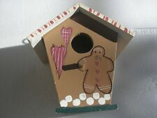 Birdhouse Gingerbread Man Indoor Patio Garden 5�X5�X4� Marshmallows & Hearts