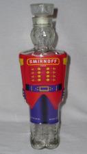 """1998 SMIRNOFF Vodka NUTCRACKER SOLDIER 750 ML *Figural Glass Bottle 12.5"""" Tall"""