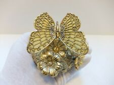 """VINTAGE BUTTERFLY AUTOMATON MUSIC BOX """"plays Feelings""""  (WATCH THE VIDEO)"""