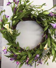 Floral Wreath Garland Flower Arrangement Front Door Table