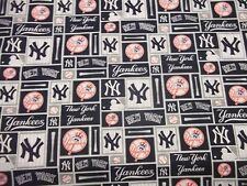 NEW YORK YANKEES  MLB  100% COTTON 1 YARD  PIECE BRAND NEW ALL SQUARE  DESIGN