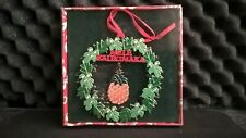 Things Hawaiian Collectible Christmas Ornament Wreath with Pineapple