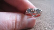 AUTHENTIC HERMES COLLIER DE CHIEN / CDC RING - STERLING SILVER - SIZE 52