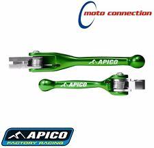 Apico Flexible Palanca Set Verde para Kawasaki KX125 KX250 2002: SUZ2GN