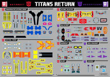 Transformers Titans Return Powermaster Prime Blurr Scourge Blaster Sticker