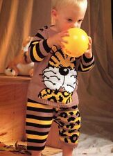 Knitting Pattern for Baby Boys Adorable Tiger Jumper and Trouser Set!! (70)