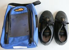 TigerClaw Men's Size 5 Black Martial Arts Shoes includes Blue Carry Bag