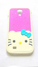 Cover CUSTODIA per SAMSUNG GALAXY S4 HELLO KITTY 3D DIAMONDS BRILLANTINI ROSA