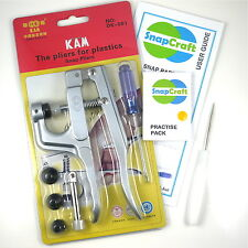 KAM Snap Pliers - for Resin Snaps, Plastic Poppers, Button Fasteners, Size 16 +