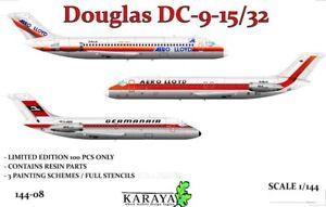 Karaya Models 1/144 DOUGLAS DC-9-15/32 Airliner LIMITED EDITION KIT
