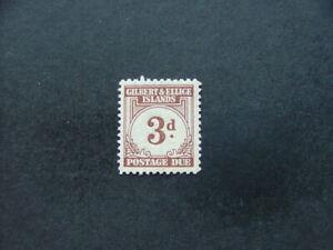 Gilbert & Ellice 1940 3d brown Postage Due SGD3 LMM