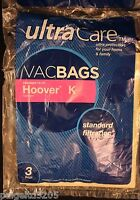 Ultra Care  VacBags Hoover K Canisters Standard Filtration 2 Vacuum Bags