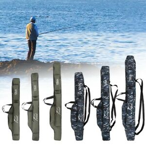 New Folding Fishing Rod Carrier Pole Tools Storage Case Fishing Gear Tackle Bags