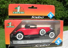 SOLIDO 1/43 METAL DUESENBERG  SPIDER ROUGE 4035!!!!!!!!