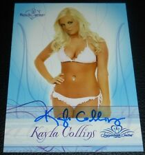 Kayla Collins Signed 2008 BenchWarmer Signature Series Card #14 Playboy Auto'd