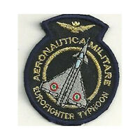 [Patch] EUROFIGHTER TYPHOON AERONAUTICA MILITARE cm 5 x 6 ricamo REPLICA -304