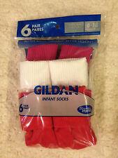 Gildan para niña vuelta Calcetines, paquete 6 Pares 6- 18 meses, Levemente