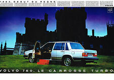 PUBLICITE ADVERTISING  1984   VOLVO 760   LE carrosse TURBO  (2 pages)