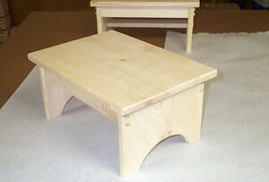 CHILD'S  STEP  STOOL   FOOT  STOOL   PINE  WOOD #108 WOODEN STAND PLANT STAND
