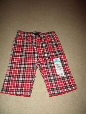 NWT Girl's 0-3 Month Red & Black Plaid Pants Okie Dokie NEW