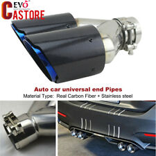 63mm Inlet 89mm Outlet 100% Carbon Fiber Dual Exhaust Pipe Tail Muffler Tip