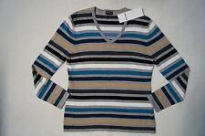 GERRY WEBER Pullover V-Ausschnitt Gr. 40,42,44,46, 48 gestreift *2 Farben**NEU!*