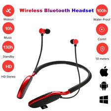 Bluetooth Wireless Headset Neckband Earphone Headphone Mic For iPhone Lg Samsung