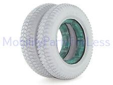 Pair of 3.00-8 Foam-Filled (Star) Tires - Pride Quantum Q6 Edge, Q6000Z, R-4000