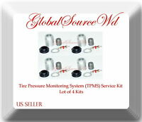 4 Kits 20016 TPMS Sensor Service Kit Fits: Chrysler Dodge Mercedes-Benz Smart