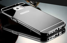 For Samsung Galaxy Phone Luxury Aluminum Metal Bumper Mirror PC Back Case Cover