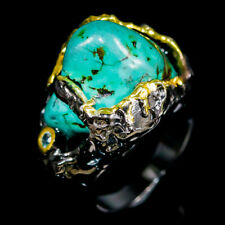 Vintage Natural Turquoise 925 Sterling Silver Ring Size 6.5/R123111