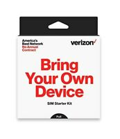 Verizon Prepaid SIM Card Kit No Contract  (3-in-1 Sim: Standard, Micro, Nano)