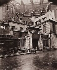 1890/1963 Vintage 11x14 PARIS STREET Architecture France Photo Art EUGENE ATGET